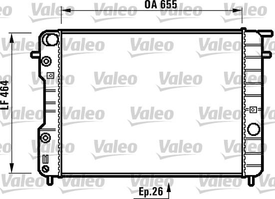 Radiateur, refroidissement du moteur - VALEO - 731840