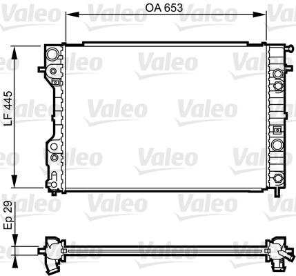 Radiateur, refroidissement du moteur - VALEO - 731841