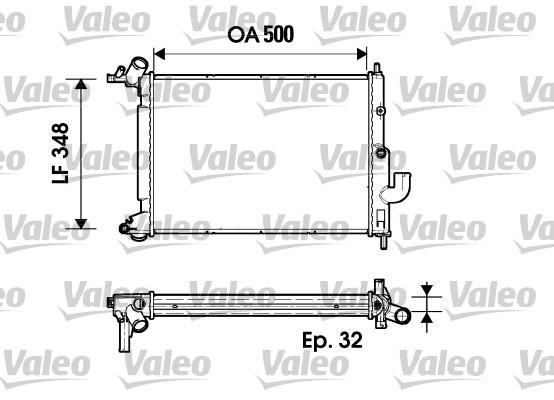 Radiateur, refroidissement du moteur - VALEO - 731846