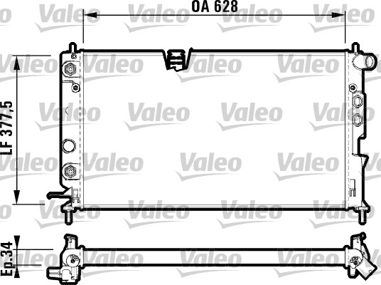 Radiateur, refroidissement du moteur - VALEO - 731847