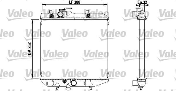 Radiateur, refroidissement du moteur - VALEO - 731853