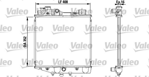 Radiateur, refroidissement du moteur - VALEO - 731856