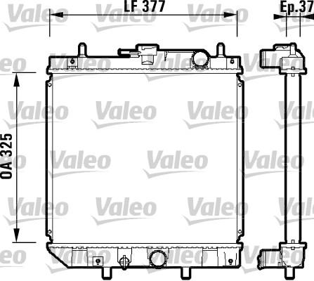 Radiateur, refroidissement du moteur - VALEO - 731857