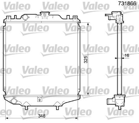 Radiateur, refroidissement du moteur - VALEO - 731866