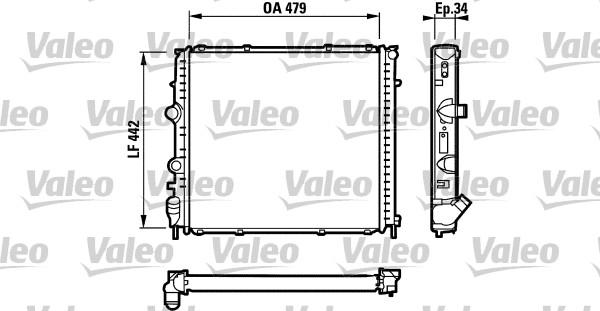 Radiateur, refroidissement du moteur - VALEO - 731910