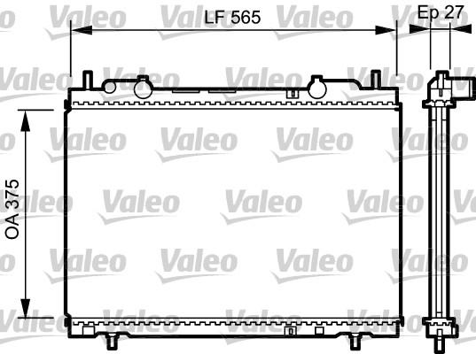Radiateur, refroidissement du moteur - VALEO - 731973