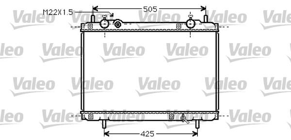 Radiateur, refroidissement du moteur - VALEO - 731974
