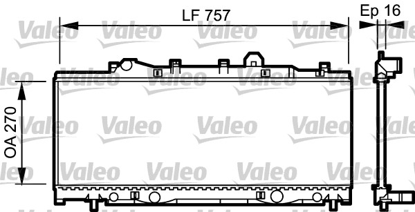 Radiateur, refroidissement du moteur - VALEO - 731975