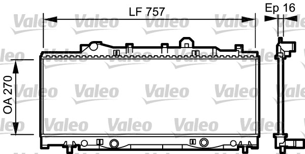 Radiateur, refroidissement du moteur - VALEO - 731976