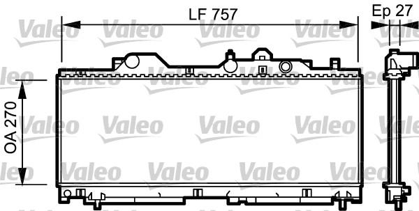 Radiateur, refroidissement du moteur - VALEO - 731977