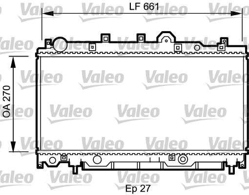 Radiateur, refroidissement du moteur - VALEO - 731978