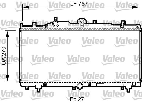 Radiateur, refroidissement du moteur - VALEO - 731979