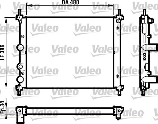Radiateur, refroidissement du moteur - VALEO - 731981