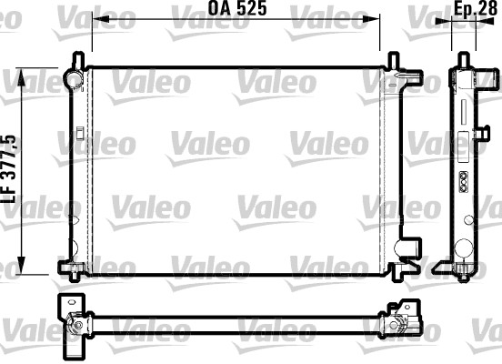 Radiateur, refroidissement du moteur - VALEO - 732003