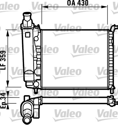 Radiateur, refroidissement du moteur - VALEO - 732004