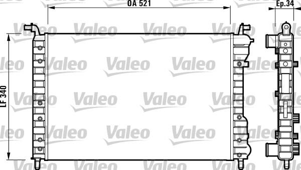 Radiateur, refroidissement du moteur - VALEO - 732007