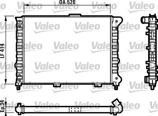 Radiateur, refroidissement du moteur - VALEO - 732011