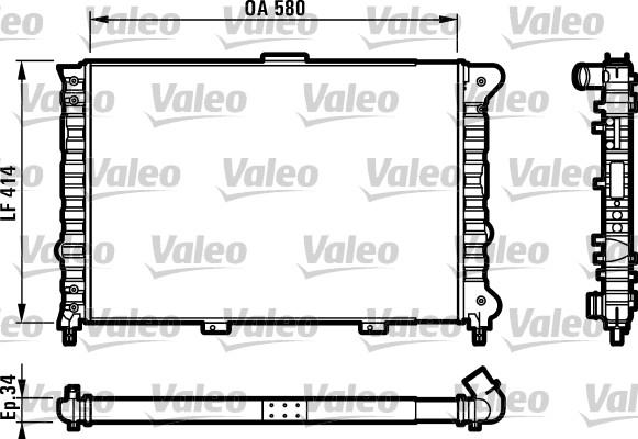 Radiateur, refroidissement du moteur - VALEO - 732012