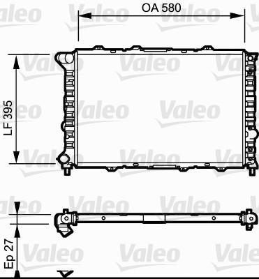Radiateur, refroidissement du moteur - VALEO - 732013