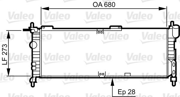 Radiateur, refroidissement du moteur - VALEO - 732032