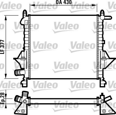 Radiateur, refroidissement du moteur - VALEO - 732051