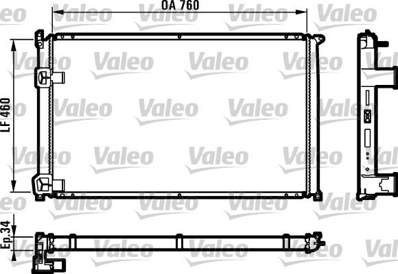 Radiateur, refroidissement du moteur - VALEO - 732063