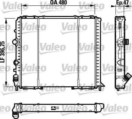 Radiateur, refroidissement du moteur - VALEO - 732071