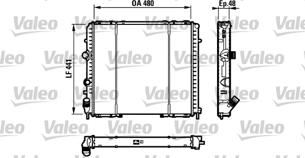 Radiateur, refroidissement du moteur - VALEO - 732072