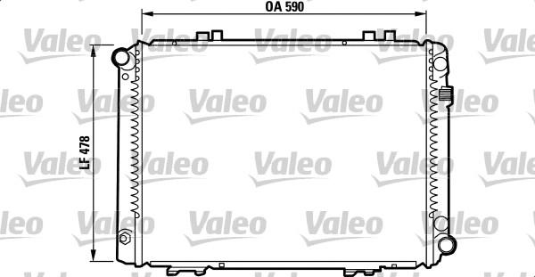 Radiateur, refroidissement du moteur - VALEO - 732090