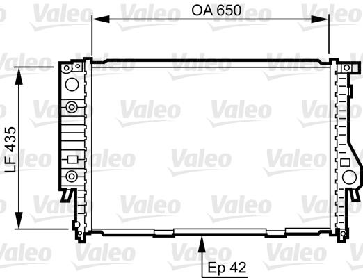 Radiateur, refroidissement du moteur - VALEO - 732099