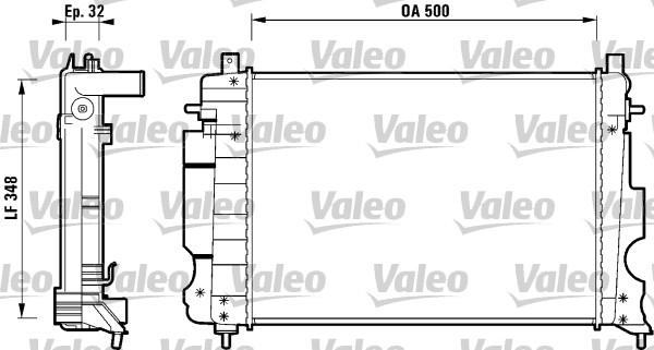 Radiateur, refroidissement du moteur - VALEO - 732120