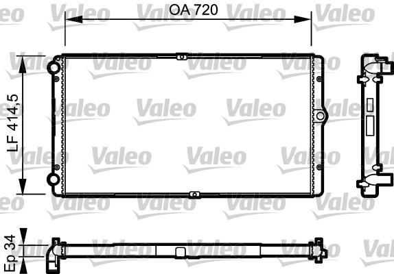 Radiateur, refroidissement du moteur - VALEO - 732177