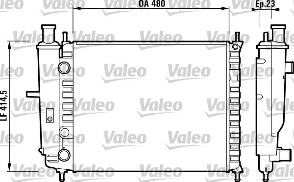 Radiateur, refroidissement du moteur - VALEO - 732218