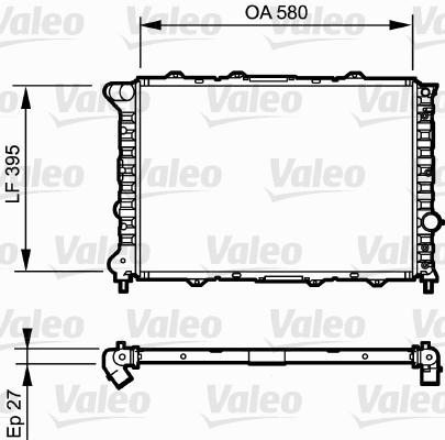 Radiateur, refroidissement du moteur - VALEO - 732248