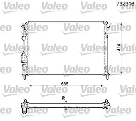 Radiateur, refroidissement du moteur - VALEO - 732316