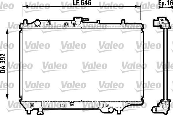 Radiateur, refroidissement du moteur - VALEO - 732325