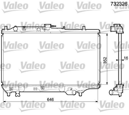 Radiateur, refroidissement du moteur - VALEO - 732326