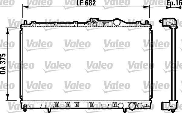 Radiateur, refroidissement du moteur - VALEO - 732327