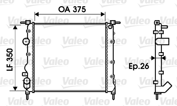 Radiateur, refroidissement du moteur - VALEO - 732338