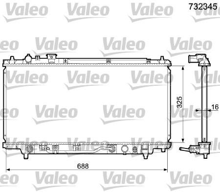 Radiateur, refroidissement du moteur - VALEO - 732345