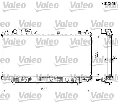 Radiateur, refroidissement du moteur - VALEO - 732346