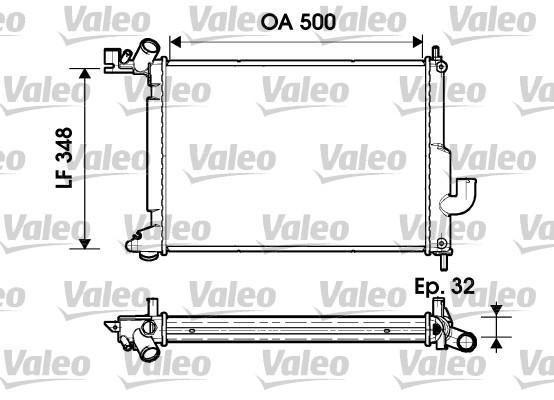 Radiateur, refroidissement du moteur - VALEO - 732349