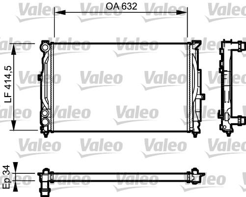 Radiateur, refroidissement du moteur - VALEO - 732361