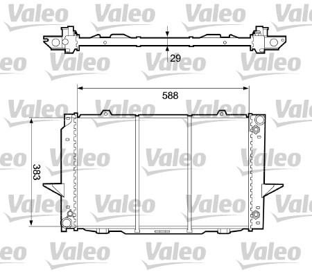 Radiateur, refroidissement du moteur - VALEO - 732365