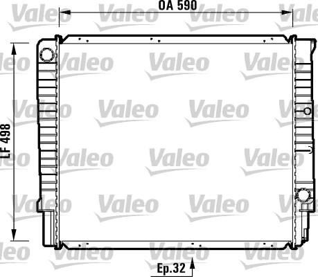 Radiateur, refroidissement du moteur - VALEO - 732369