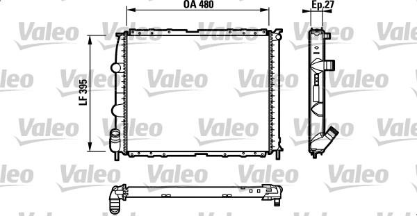Radiateur, refroidissement du moteur - VALEO - 732387