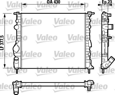 Radiateur, refroidissement du moteur - VALEO - 732389