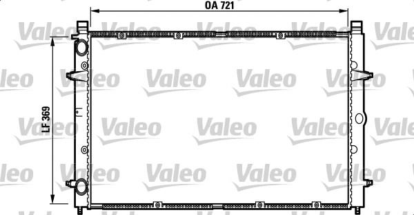 Radiateur, refroidissement du moteur - VALEO - 732397