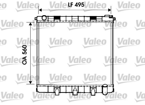 Radiateur, refroidissement du moteur - VALEO - 732402