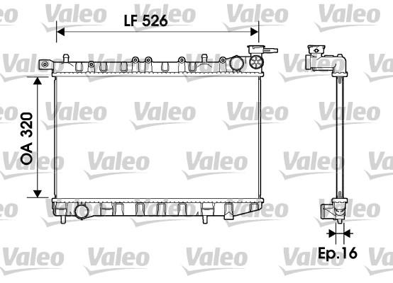 Radiateur, refroidissement du moteur - VALEO - 732405